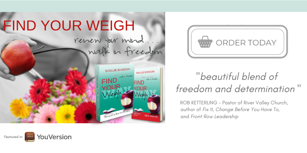 Find Your Weigh book and Bible Study